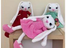 Coelhas Charmosas 220x160 - Trabalhos manuais Crochê